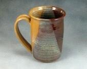 Pottery Coffee Mug Desert Yellow Ceramic Coffee Mug Coffee Cup 16 Ounce Hand Thrown Stoneware Pottery 26