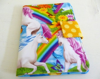 Colorful Unicorn Kindle 4 or 5 Cover, Kobo Touch Case
