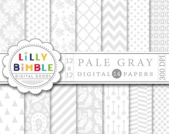 80% off Elegant gray and white digital papers for wedding invitations, designs, Damask, arrows, paisley Neutral download