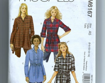 McCall's Misses' Tunic and Sash Pattern M6167