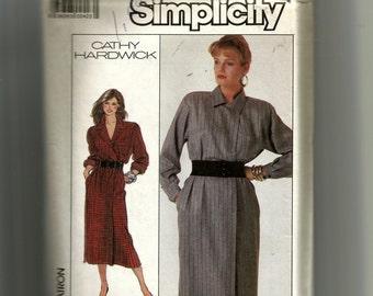 Simplicity Misses'  Mock Wrap Dress Pattern 8220