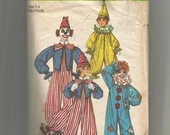 Simplicity Child's Clown Costumes Pattern 9051
