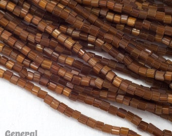 11/0 Satin Brown 2 Cut Czech Seed Bead (Hank) #CSN004