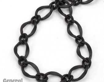 11mm x 7.4mm Matte Black Figaro Chain #CC201