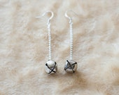 Tiny Bell Dangle Earrings