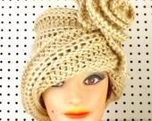 Crochet Hat Womens Hat, Cloche Hat, Crochet Flower, Bone Hat, African Hat, Chapeau, OMBRETTA Cloche Hat, Formal Hat