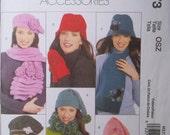 McCalls Pattern UNCUT 5773 HATS Scarves MITTENS Size Sm Med. Lg.