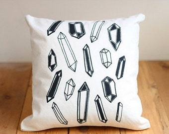 Crystals Screenprinted Pillow