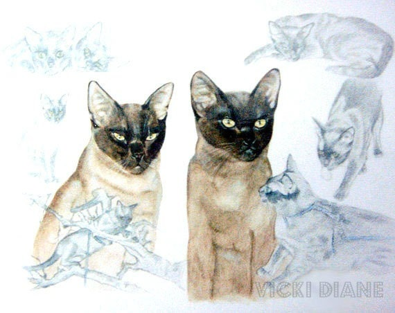 We are Siamese if you please - Fine art Print