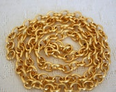7mm Chunky Rolo Chain - 22k Matte Gold Plated