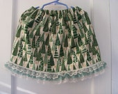 Clearance Sale Green Trees Print Skirt ONE SIZE FITS 12 months to 5T