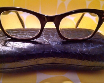 Vintage Square Cat's Eye Glasses with Star Details