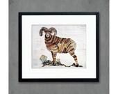 Big Horn Sheep (Ram) Rocky Mountain Art Print