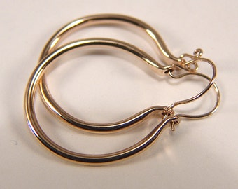 Round Hoop Earrings Gold-Filled