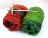 Drop Spindle Kit Learn to Spin your own Yarn Gift Set 200g Merino & Art Batts