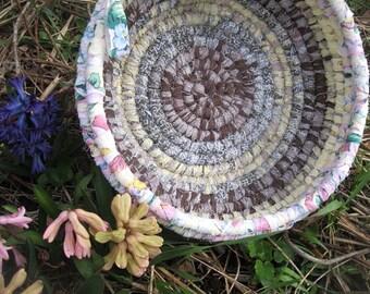 SPRING BREAK  Textile  art BASKET  BoWL