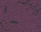 Andover Chillingsworth's Spooky Ride Pattern A-7747P by Echo Park Paper Co PURPLE Black BAT Fabric