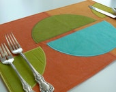 Mid-Century Modern Place Mats - Set of 4