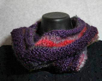 Fortune Teller handknit cowl wrap