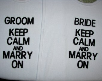 Custom Adult Bibs. Protect Your Wedding Clothes with Humor.  Set of 2.  Personalize it.