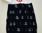 newborn infant Baby layette nautical boutique custom anchor wholesale hospital shower picture gift shower first pictures home outfit