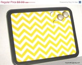 FATHERSDAYSALE Yellow And White Chevron Zig Zag Magnetic Bulletin Board Magnet Board, Magnetic Board, 4 Magnet Buttons, Adults  Kitchen Dorm