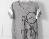Women's Road Bike Large Sport V-Neck Shirt-s/s
