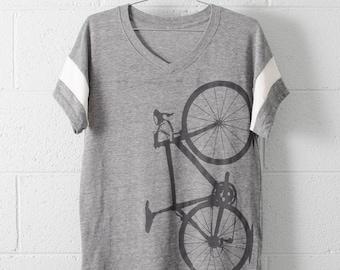 Women's Road Bike Small Sport V-Neck Shirt- s/s