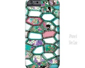 Geometric iPhone 6 Case, iPhone 6 Plus Case, Cells, turquoise, Funky, Abstract Art, iPhone Case, iPhone 5S case, Note 4 Case, Ingrid Padilla