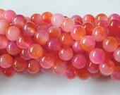 8mm Jade Beads,  Pink and Peach Jade Beads. Full Strand  45+  Beads