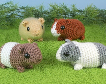 PDF Baby Guinea Pigs - four amigurumi guinea pig CROCHET PATTERNS