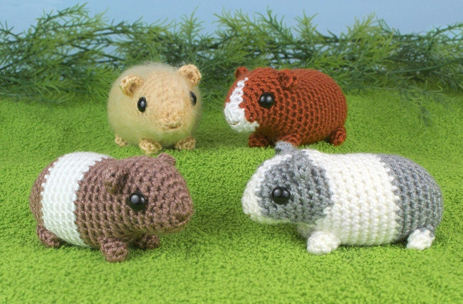 Amigurumi Baby Guinea Pig : PDF Baby Guinea Pigs four amigurumi guinea pig CROCHET