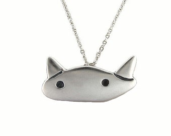 That's my cat... Necklace - Sterling Silver Cat Pendant