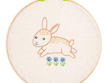 KIT embroidery bunny wall art