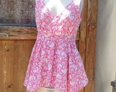 Festival top, blouse, handmade, tunic, boho shirt, womens, juniors, Size Medium