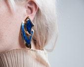 yojimbo oversized sculptural earrings / statement earrings / dramatic jewelry / 514a
