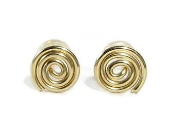 14k Gold Filled Stud Earrings Spiral Stud Earrings Gold Post Earrings Gold Studs Tiny Earrings Minimalist Earrings