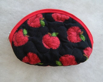 Small Quilted Purse - Apples
