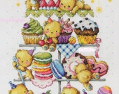 Choose one - Sweet Bears - G58 or Teddy Bear Bakery G77 - Counted Cross Stitch Original Design Pattern Chart