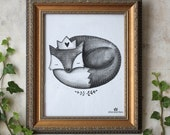 The Grey Fox print INSTANT DOWNLOAD