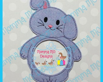 Bunny Lens Buddy Photo Friend Machine Embroidery Design