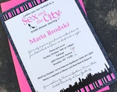 Bling Sex and the City Bridal Shower Invitation - Design Fee