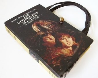 Book Purse Nancy Drew The Secret of Mirror Bay Handbag Upcycled Book Bag Trendy Vintage Book Purse