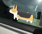 Corgi Car Window Decal Sticker - Tri colored