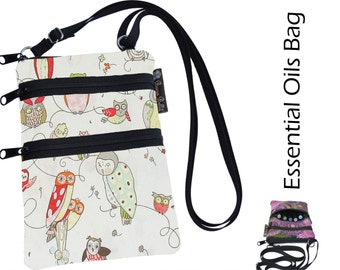 Essential Oil Purse - Essential Oil  - Purses - Waterproof lining fabric - Owls Fabric