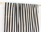 Japanese Fabric - Large stripes - black, natural - 50cm