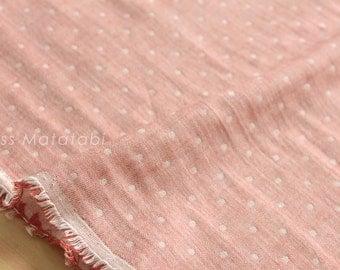 Japanese Fabric Kokochi Double gauze - reversible dots R -  50cm