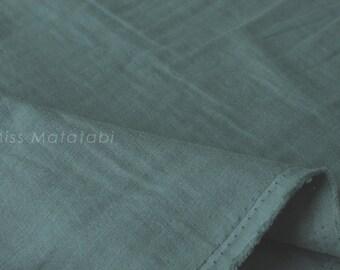 Japanese Fabric - Kobayashi solid TRIPLE gauze - teal green - 50cm