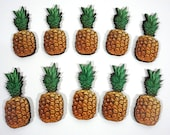 Pineapples -  Collection of 10 Wooden Embellishments