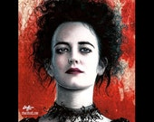 "Print 8x10"" - Vanessa Ives - Penny Dreadful Eva Green Supernatural Victorian London Frankenstein Gothic Dark Art Horror Lowbrow Pop Art"